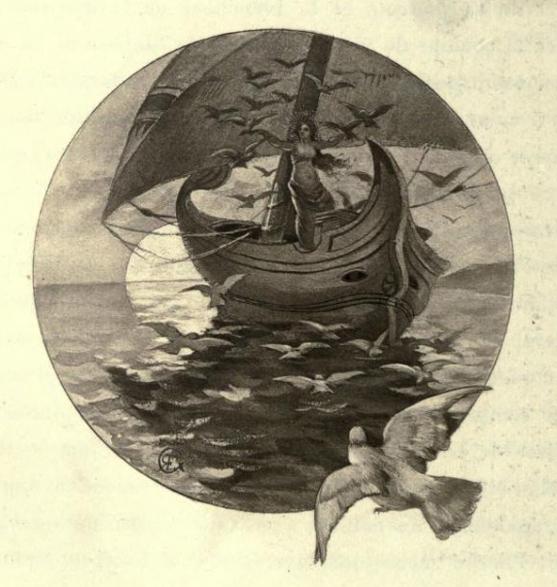 e-rosset-granger-aquarelle-1888-dionea-la-galere-de-dionea-les-lettres-et-les-arts-decembre-1888