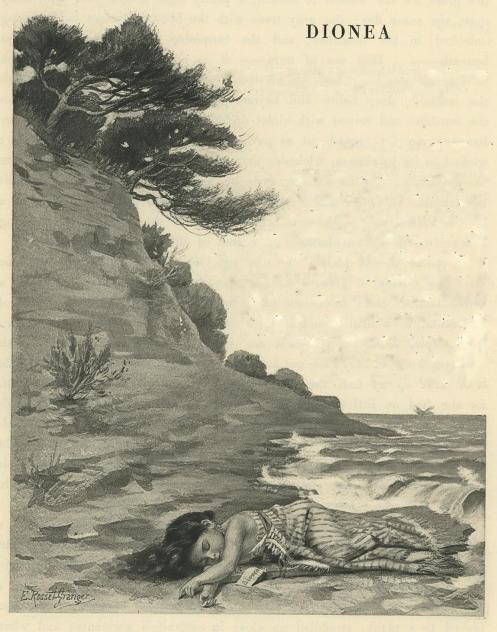 e-rosset-granger-aquarelle-1888-dionea-sur-la-greve-les-lettres-et-les-arts-decembre-1888