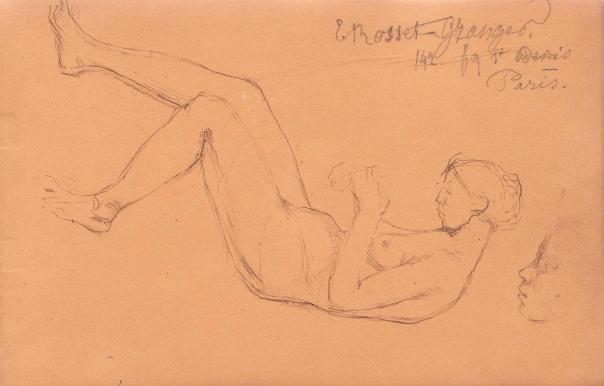 e-rosset-granger-carnet-de-croquis-1878-etude-dune-femme-nue-alongee-avec-tete-indications-adresse-erg-plume-130-x-206