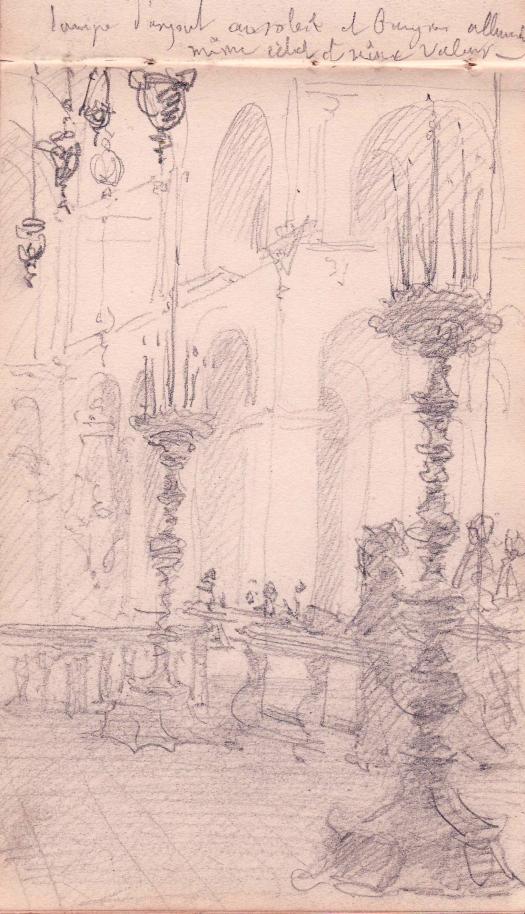 e-rosset-granger-carnet-de-croquis-1879-etude-de-decoration-a-linterieur-dune-eglise-avec-candelabres-florence-italie-crayon-noir-206-x-130