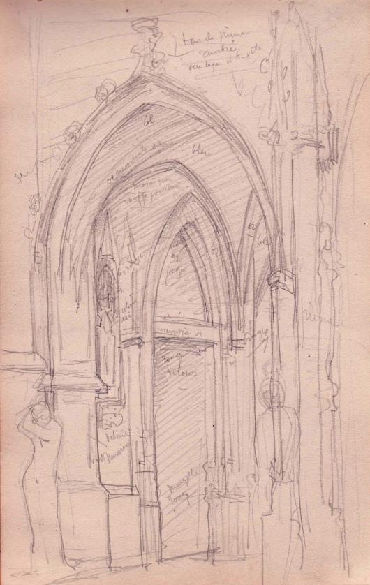 e-rosset-granger-carnet-de-croquis-1879-etude-de-linterieur-dune-eglise-gothique-italie-crayon-noir-206-x-130