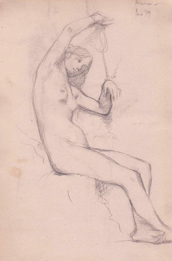 e-rosset-granger-carnet-de-croquis-1879-etude-de-nu-feminin-assis-bras-releves-modele-marie-crayon-noir-206-x-130-date-fev-79