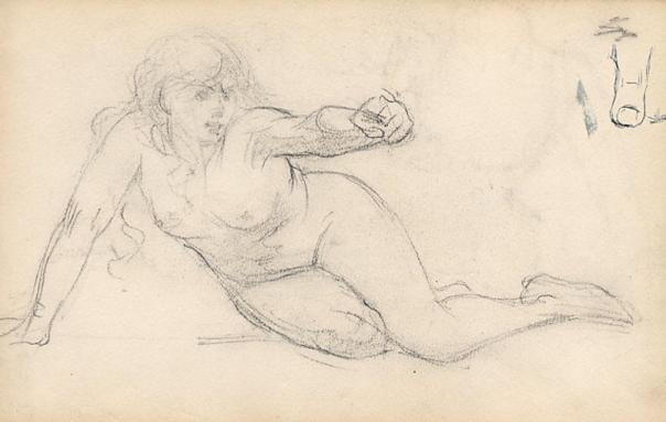 e-rosset-granger-carnet-de-croquis-1879-etude-de-nu-feminin-en-italie-craie-noire-130-x-206
