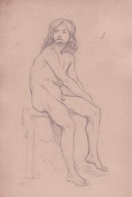 e-rosset-granger-carnet-de-croquis-1879-etude-de-nu-masculin-assis-sur-un-tabouret-modele-fortune-13-ans-crayon-noir-206-x-130