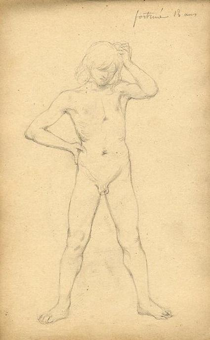 e-rosset-granger-carnet-de-croquis-1879-etude-de-nu-masculin-debout-jambes-ecartees-modele-fortune-14ans-italie-crayon-noir-206-x-130