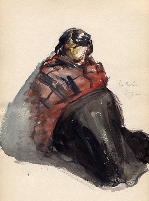 e-rosset-granger-carnet-de-croquis-1879-etude-de-pose-femme-assise-en-italie-aquarelle-gouachee-206-x-130