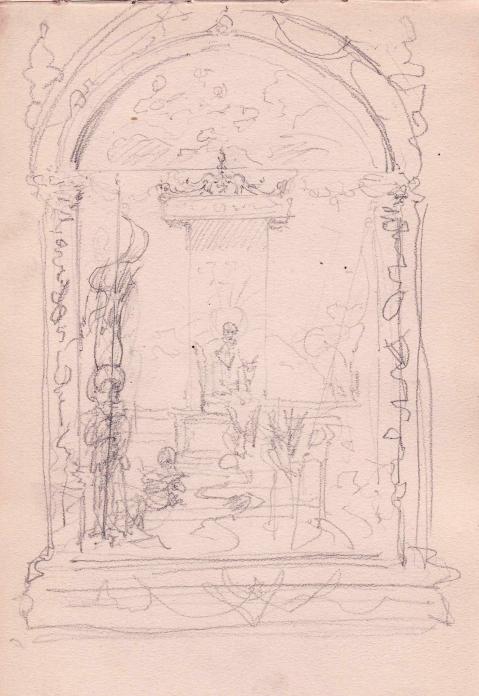 e-rosset-granger-carnet-de-croquis-1879-etude-dun-decor-a-linterieur-dune-eglise-a-florence-italie-crayon-noir-206-x-130