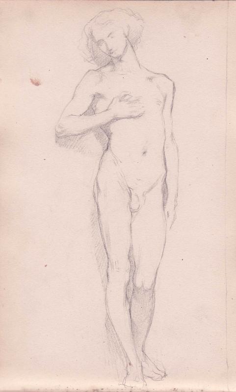 e-rosset-granger-carnet-de-croquis-1879-etude-dune-homme-nu-debout-la-main-sur-la-pointrine-crayon-noir-206-x-130