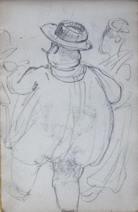 e-rosset-granger-carnet-de-croquis-1912-i-gros-paysan-du-nord-de-dos-au-bal-crayon-noir-150-x-96