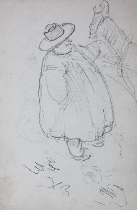 e-rosset-granger-carnet-de-croquis-1912-o-gros-paysan-du-nord-au-chapeau-avec-son-cheval-crayon-noir-150-x-96
