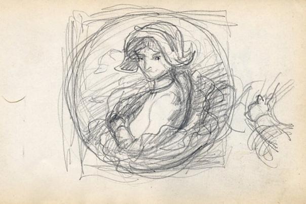 e-rosset-granger-carnet-de-croquis-1912-r-etude-en-vue-dune-toile-ronde-crayon-noir-96-x-150