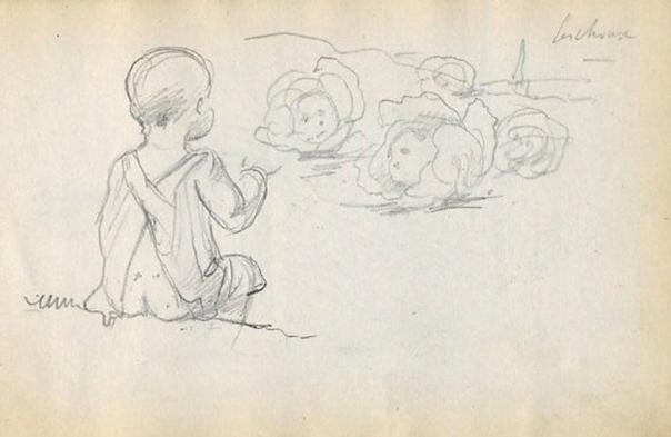 e-rosset-granger-carnet-de-croquis-1912-t-les-bebes-naissent-dans-les-choux-crayon-noir-96-x-150
