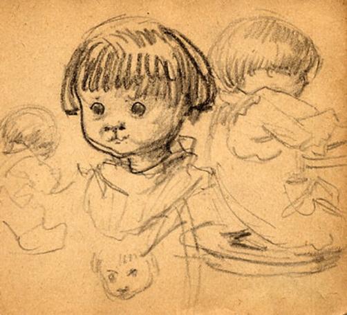 e-rosset-granger-carnet-de-croquis-1917-b-pierre-dehay-dit-la-totte-a-4-ans-a-puy-pres-de-dieppe-crayon-noir-90-x-96