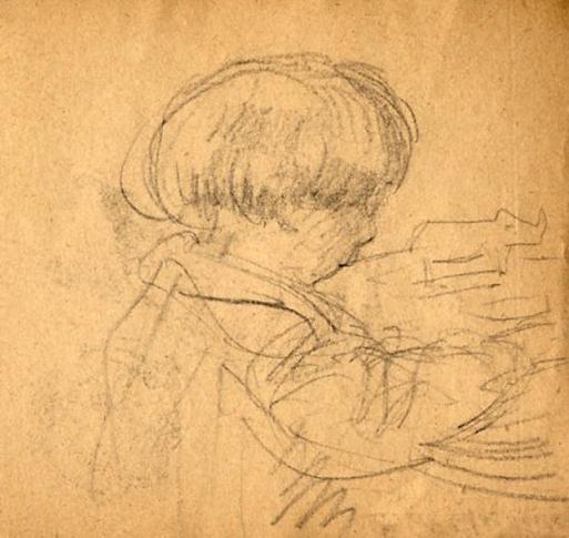 e-rosset-granger-carnet-de-croquis-1917-g-pierre-dehay-dit-la-totte-a-4-ans-a-puy-pres-de-dieppe-crayon-noir-90-x-96