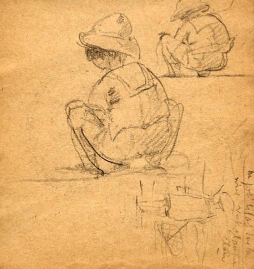 e-rosset-granger-carnet-de-croquis-1917-h-pierre-dehay-dit-la-totte-sur-la-greve-a-puy-pres-de-dieppe-crayon-noir-96-x-90
