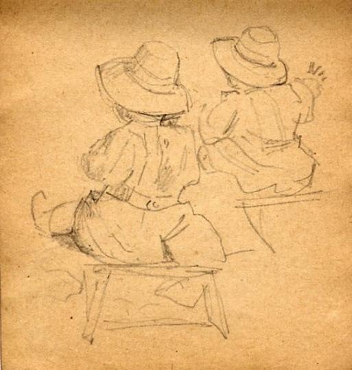 e-rosset-granger-carnet-de-croquis-1917-j-pierre-dehay-dit-la-totte-sur-la-greve-de-puy-pres-de-dieppe-crayon-noir-96-x-90