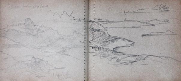 e-rosset-granger-carnet-de-croquis-1919-carantec-le-plateau-des-duons-et-la-pointe-crayon-noir-90-x-210