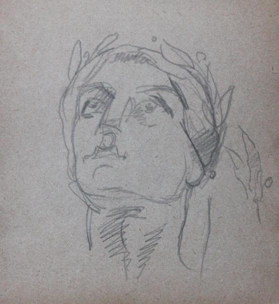 e-rosset-granger-carnet-de-croquis-1919-etude-de-tete-de-marcelle-pour-aux-heros-disparus-crayon-noir-96-x-90