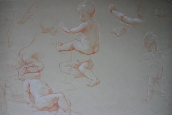 e-rosset-granger-etude-de-bebes-nus-craie-sanguine-rehaussee-de-blanc-320-x-460-vers-1910-1915
