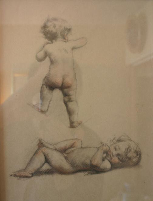 e-rosset-granger-etude-de-bebes-nus-debout-et-couche-craie-noire-300-x-220
