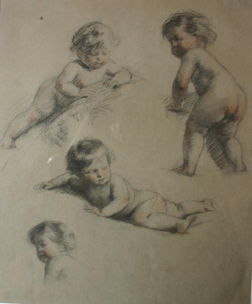 e-rosset-granger-etude-de-bebes-nus-differentes-poses-craie-noire-320-x-250