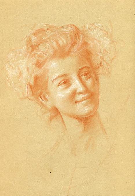 e-rosset-granger-etude-de-composition-9-pour-le-soir-dune-vie-les-noces-dor-1909-craies-sanguine-et-blanche-portrait-de-face-dune-jeune-femme-315-x-235