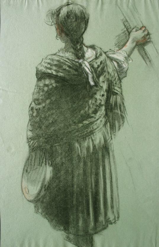 e-rosset-granger-etude-de-drape-feminin-pour-une-composition-craie-verte-noire-blanche-et-sanguine-475-x-305