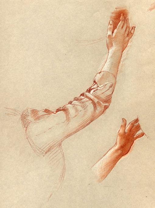 e-rosset-granger-etude-de-mains-et-de-bras-craie-sanguine-en-vue-dune-composition-285-x-225