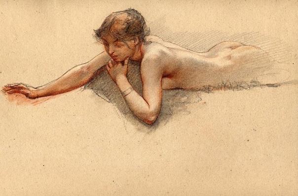 e-rosset-granger-etude-de-nu-feminin-allonge-craies-noire-et-sanguine-250-x-380