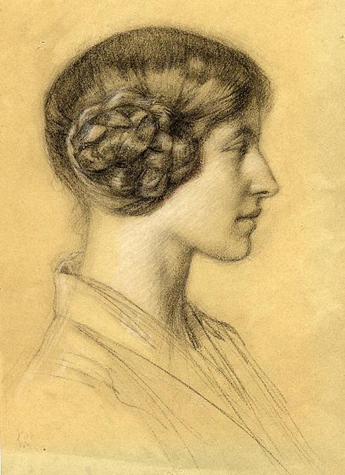 e-rosset-granger-etude-de-tete-craie-noire-portrait-de-profil-de-simone-dubois-en-1916-1918-292-x-235