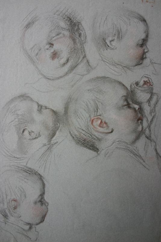 E.ROSSET-GRANGER Etude de tête de bébé (Jervinho 8 mois). Craies Sanguine et Noire 455 x 305.jpg