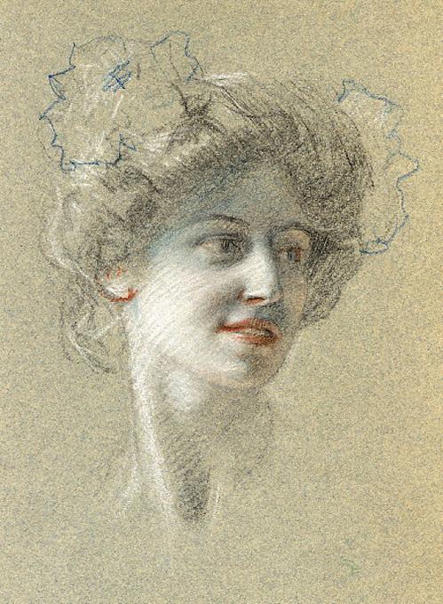 e-rosset-granger-etude-de-tete-de-marcelle-craies-de-couleurs-portrait-de-marcelle-la-femme-de-lartiste-255-x-200-vers-1902-1905