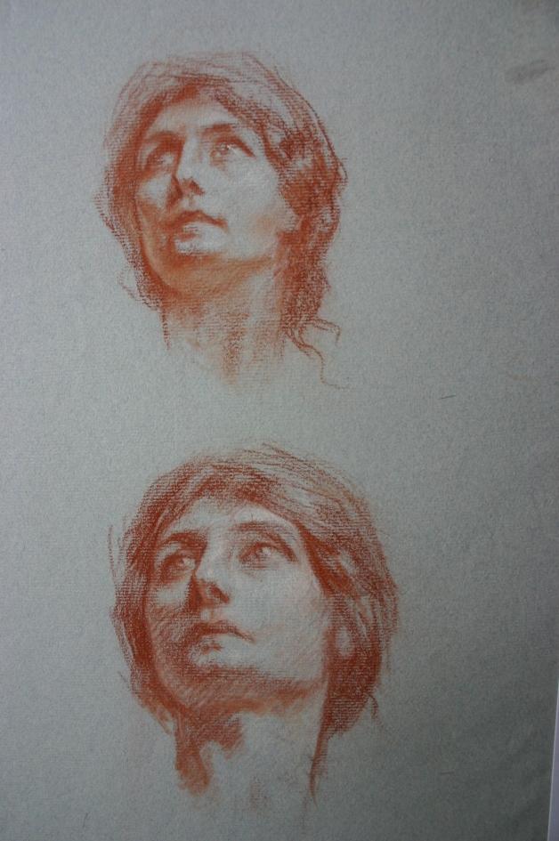 e-rosset-granger-etude-de-tete-de-marcelle-vue-du-dessous-pour-aux-heros-disparus-1919-craie-sanguine-430-x-260