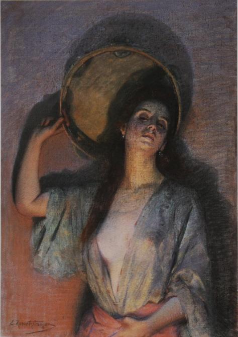 e-rosset-granger-gouache-et-pastel-1892-921-x-650-la-femme-au-tambour-basque-ou-bayadere-1-musee-des-beaux-arts-de-reims-donation-henri-vasnier