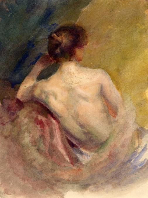 e-rosset-granger-gouache-sur-papier-1899-180-x-142-le-repos-du-modele-esquisse