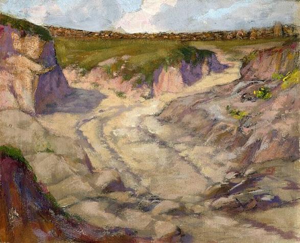e-rosset-granger-gouache-sur-papier-1919-218-x-266-chemins-creux-environs-de-pont-aven-raguenes