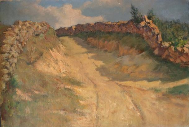 e-rosset-granger-gouache-sur-papier-1919-252-x-370-un-chemin-creux-environs-de-pont-aven