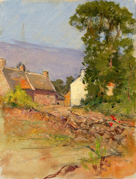 e-rosset-granger-gouache-sur-papier-1926-27-263-x-200-village-pres-de-le-palais-belle-isle