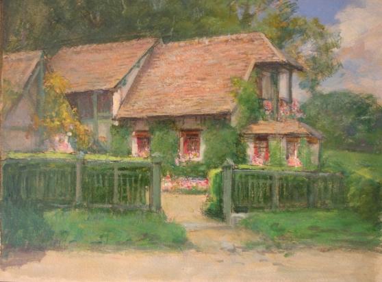 e-rosset-granger-huile-sur-carton-1910-1925-270-x-352-la-maison-du-peintre-alfred-agache-a-bizy-pres-de-vernon
