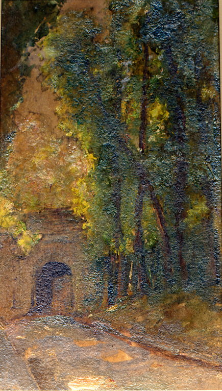 e-rosset-granger-huile-sur-carton-1926-27-252-x-156-la-porte-bangor-a-belle-isle-le-palais-coll-b-et-f-dehay