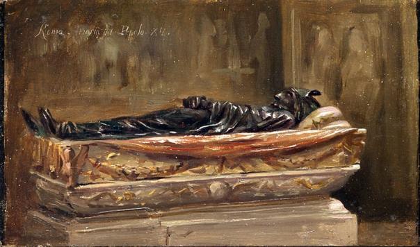 e-rosset-granger-huile-sur-panneau-1882-acajou-125-x-216-tombeau-de-marbre-santa-maria-del-popolo-rome-1882