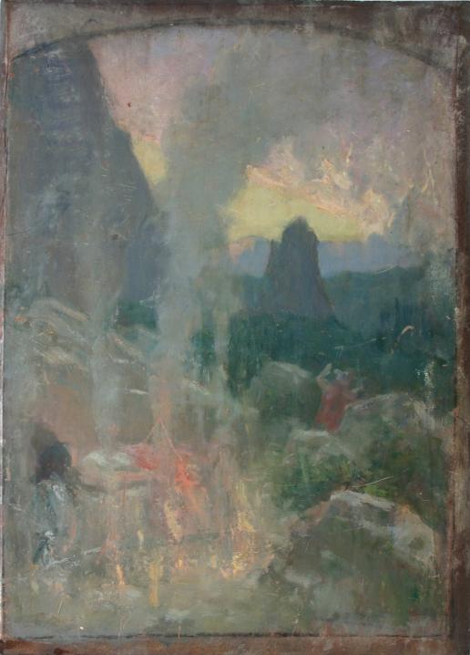 e-rosset-granger-huile-sur-panneau-1891-1892-acajou-396-x-286-esquisse-wagnerienne-au-recto-etude-de-vagues-pour-la-toile-lepave