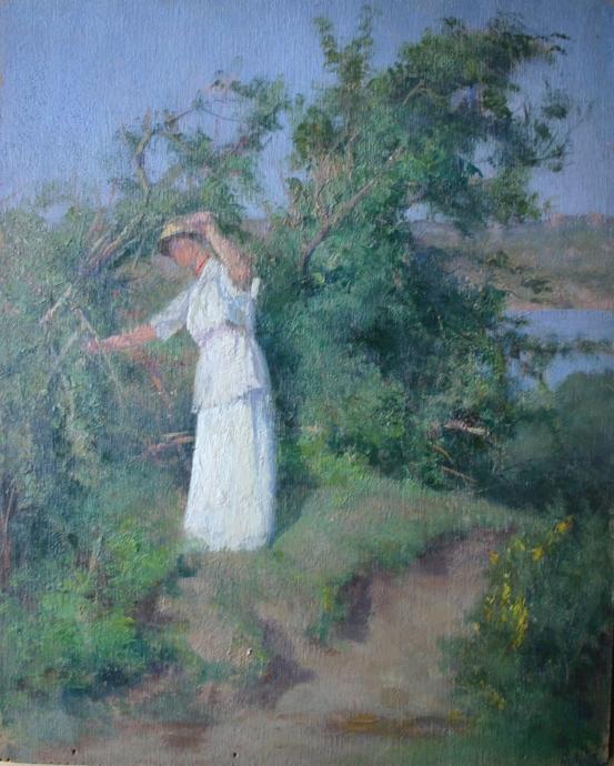 e-rosset-granger-huile-sur-panneau-1905-1920-muzii-ou-tempera-brillante-270-x-215-dans-le-jardin-a-bizy-chez-le-peintre-alfred-agache