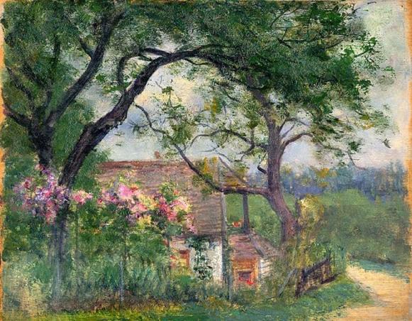 e-rosset-granger-huile-sur-panneau-1910-1925-215-x-270-la-propriete-du-peintre-alfred-agache-a-bizy-pres-de-vernon