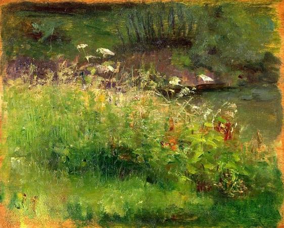 e-rosset-granger-huile-sur-panneau-1918-215-x-270-herbes-folles-et-fleurs-des-champs-a-puy-pres-de-dieppe