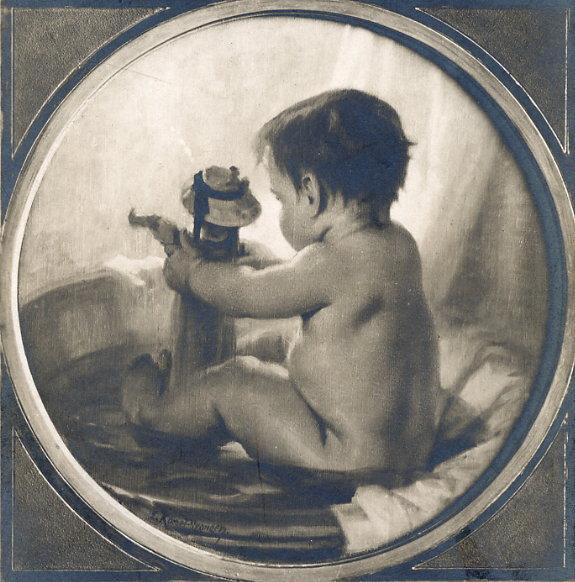 e-rosset-granger-huile-sur-panneau-rond-1910-le-tub-salon-de-la-ste-nationale-des-beaux-arts-1910
