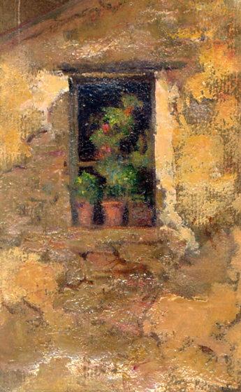 e-rosset-granger-huile-sur-papier-1926-27-muzii-150-x-100-deux-pots-sur-un-rebord-de-fenetre-rue-de-lamiral-willaumez-a-le-palais