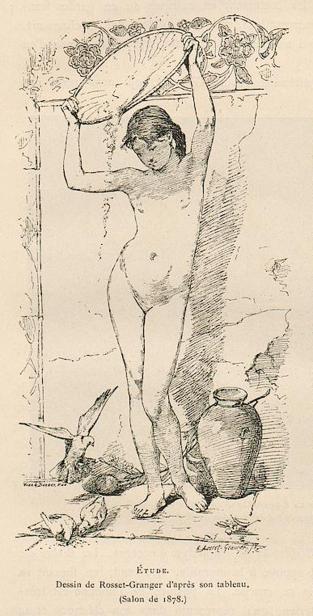 E.ROSSET-GRANGER Huile sur toile 1878 Etude de nu. SAF 1878 n° 1943.jpg