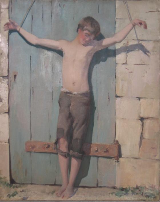 e-rosset-granger-huile-sur-toile-1879-750-x-600-fortune-enfant-de-14-ans-enchaine-les-bras-en-croix
