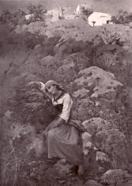 e-rosset-granger-huile-sur-toile-1883-souvenir-de-capri-golfe-de-naples-saf-1883-n-2109